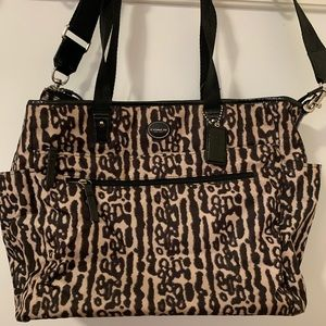 Coach Animal Print Diaper Bag